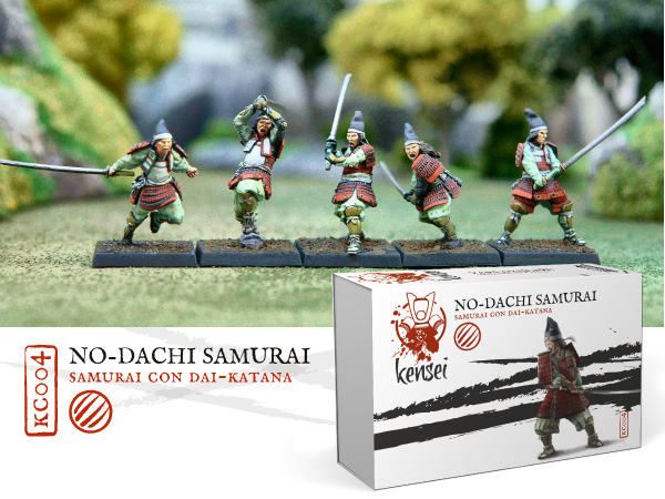 Kensei le jeu de figurines Japon médiéval - Jeu fantastique d'escarmouche et de bataille Kensei-KC004-no-dachi